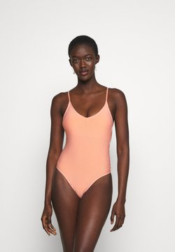 ONLY - ONLKITTY SWIMSUIT - Badeanzug - red clay/cloud dancer