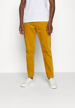 Lindbergh - CORD TROUSERS - Stoffhose - dark yellow