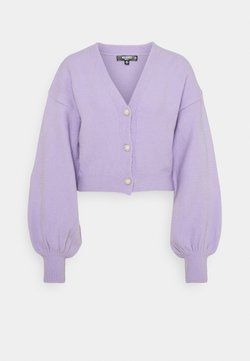 Missguided Petite - SOFT TOUCH PEARL BUTTON - Cardigan - lilac