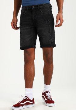 Redefined Rebel - OSLO DESTROY  - Shorts vaqueros - sbit black