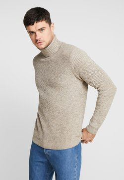 Redefined Rebel - OLIVER ROLL NECK - Pullover - stone