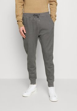 Abercrombie & Fitch - HOUNDSTOOTH STRETCH TERRY - Stoffhose - grey
