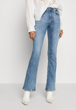 ONLY - ONLBLUSH MID FLARED  - Flared Jeans - light blue denim