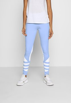 adidas Originals - LARGE LOGO ADICOLOR LARGE LOGO TIGHT TIGHTS - Leggings - clear sky/white