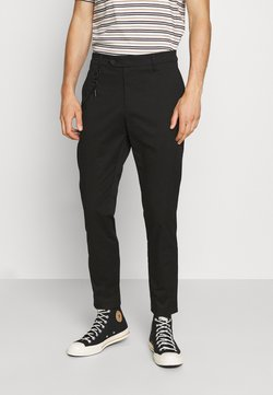 Antony Morato - TROUSERS JAGGER CARROT FIT IN STRETCH FABRIC - Trousers - black