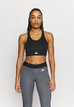 adidas Performance - Sujetadores deportivos con sujeción ligera - black/white