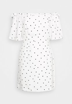 Glamorous - BARDOT DRESS - Day dress - white/black