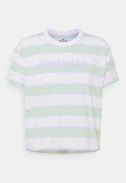Hollister Co. - T-Shirt print - green/blue