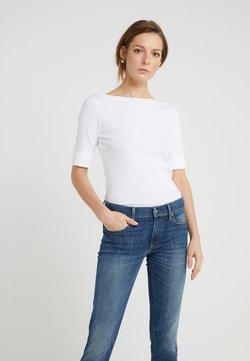 Lauren Ralph Lauren - JUDY ELBOW SLEEVE - Basic T-shirt - white