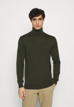 Tommy Hilfiger Tailored - FINE GAUGE LUXURY ROLL  - Pullover - dark olive
