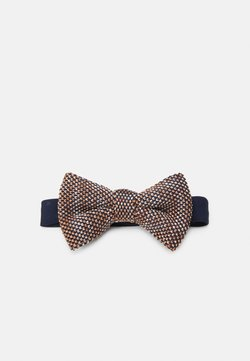 Shelby & Sons - DEMOS BOWTIE - Fliege - navy/brown