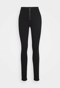 Missguided Tall - RING ZIP OUTLAW JEGGING - Jeans Skinny - black