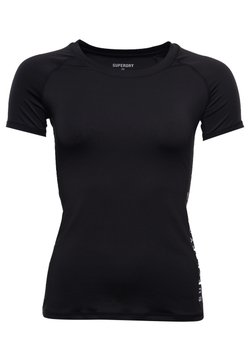 Superdry - TRAINING ESSENTIAL - T-Shirt basic - black