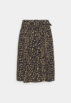 More & More - SKIRT SHORT - A-Linien-Rock - marine/multicolor