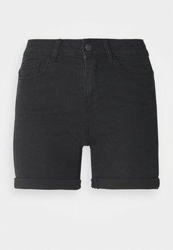 Vero Moda Tall - VMHOT SEVEN FOLD TALL - Jeansshort - medium blue denim/black