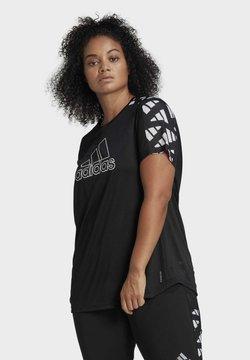 adidas Performance - OWN THE RUN CELEBRATION T-SHIRT (PLUS SIZE) - Camiseta estampada - black