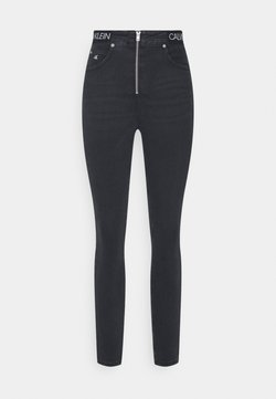 Calvin Klein Jeans - HIGH RISE SUPER SKINNY ANKLE - Jeans Skinny Fit - black