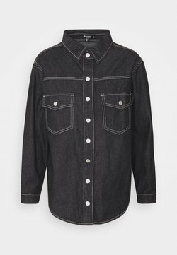 Missguided Petite - CONTRAST STITCH  - Bluse - black