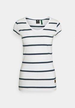 G-Star - CORE EYBEN SLIM U T WMN S\S - T-shirt imprimé - milk/vintage navy