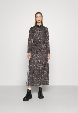 NU-IN - BELTED DRESS - Maxikleid - dark grey