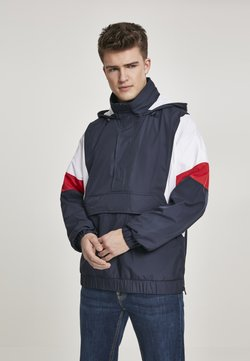 Urban Classics - LIGHT TONE PULL OVER JACKET - Windbreaker - navy/white/fire red