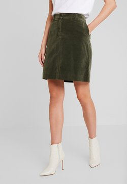 Marc O'Polo - SKIRT SHORT STYLE BACKPOCKET DETAIL - A-Linien-Rock - workers olive