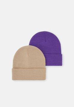 Monki - RUBY HAT 2 PACK - Czapka - lilac/ecru