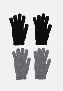 Jack & Jones - JACHENRY GLOVES 2 PACK - Fingerhandschuh - black/grey melange
