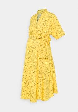 Glamorous Bloom - BOW MIDI DRESS - Freizeitkleid - yellow flower