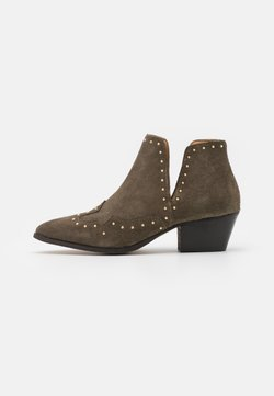 YAS - YASSOUTH - Boots à talons - military olive/gold
