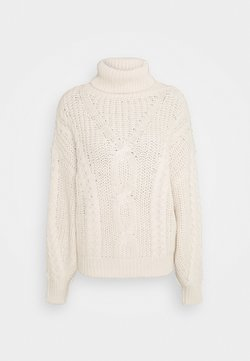TOM TAILOR DENIM - CABLE  - Strickpullover - soft beige