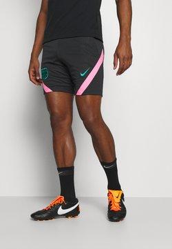 Nike Performance - FC BARCELONA DRY - Pantalón corto de deporte - black/pink beam/new green