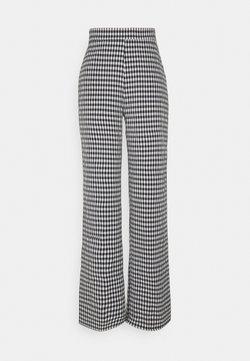 PIECES Tall - PCFIRUGGA PANTS - Trousers - bright white/black
