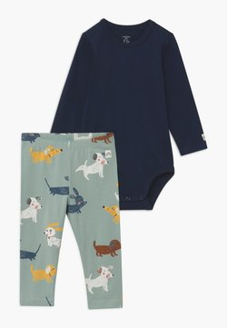 Lindex - DOGS AND NAVY SET - Legging - navy