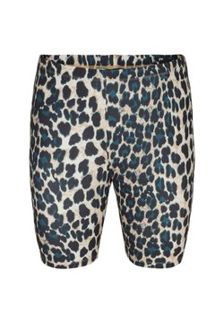 Zizzi - Shorts - black leo aop