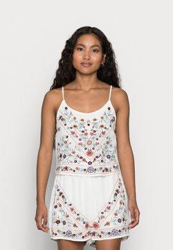 YAS Petite - YASCHELLA SINGLET PETITE - Top - star white/embroidery