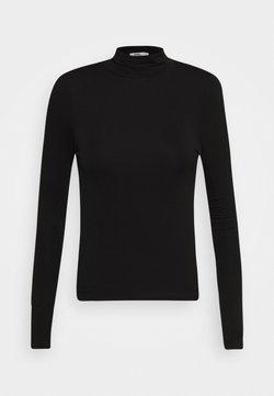 Cotton On - SHEER VINTAGE HIGH NECK LONG SLEEVE - Langærmede T-shirts - black