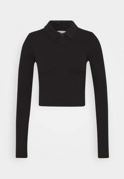 Weekday - ERIN LONG SLEEVE - Koszulka polo - black