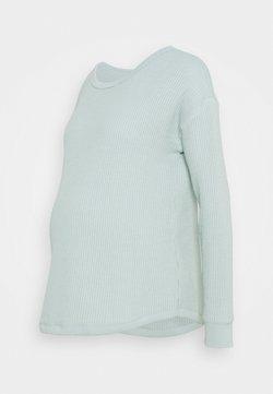 GAP Maternity - WAFFLE CREW - Jersey de punto - blue fair