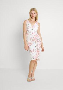 WAL G. - ELIA SIDE FRILL PRINT DRESS - Jerseykleid - cream