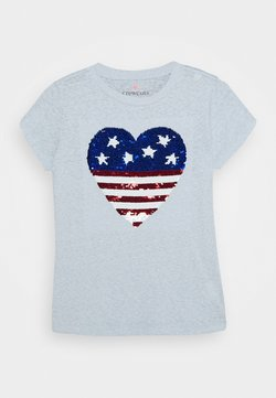 J.CREW - AMERICAN HEART TEE - T-Shirt print - white