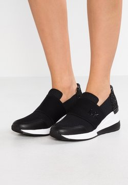 MICHAEL Michael Kors - FELIX TRAINER - Loaferit/pistokkaat - black
