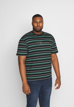 Common Kollectiv - PLUS STRIPED LOGO SHORT SLEEVE TEE - T-Shirt print - black