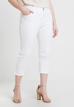 CAPSULE by Simply Be - SHAPE SCULPT CROP - Slim fit jeans - white