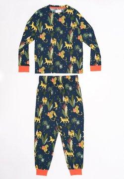 Chelsea Peers - LEOPARD & PLANTS LON - Pijama - multi-coloured
