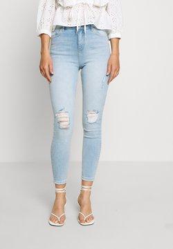Miss Selfridge - SOL LIGHT WASH RIPPED - Jeans Slim Fit - blue