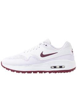 Nike Golf - AIR MAX 1 G - Golfschuh - white/villain red/barely grape
