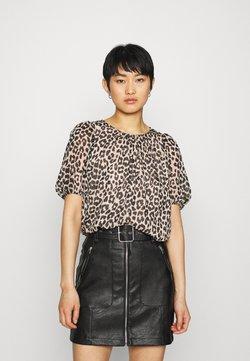 Selected Femme - SLFTILDA - T-Shirt print - smoke gray