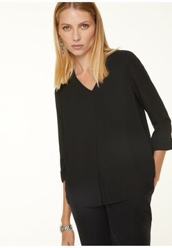 comma - MIT LAYERING-EFFEKT - Bluse - black