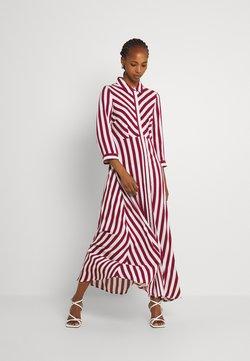 YAS - YASSAVANNA LONG SHIRT DRESS - Maxikjole - tibetan red